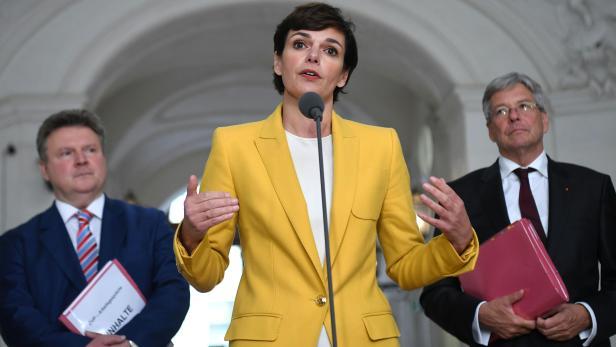 Wiens Bürgermeister Michael Ludwig, SPÖ-Parteichefin Pamela Rendi-Wagner und Kärntens Landeshauptmann Peter Kaiser