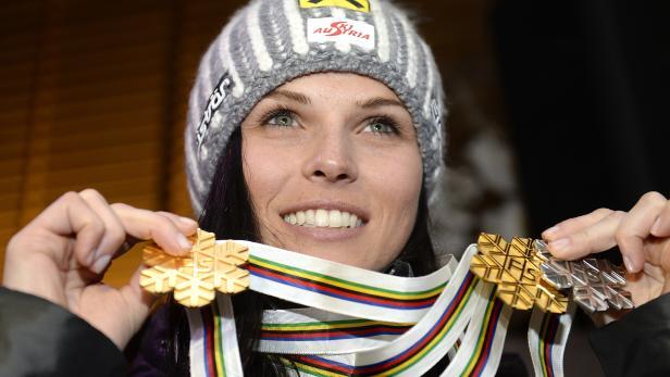 Anna Fenninger mit 2x Gold und 1x Silber