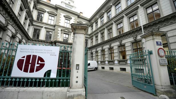Eine Außenansicht des neuen Gebäudes des Instituts für Höhere Studien (IHS) in Wien.
