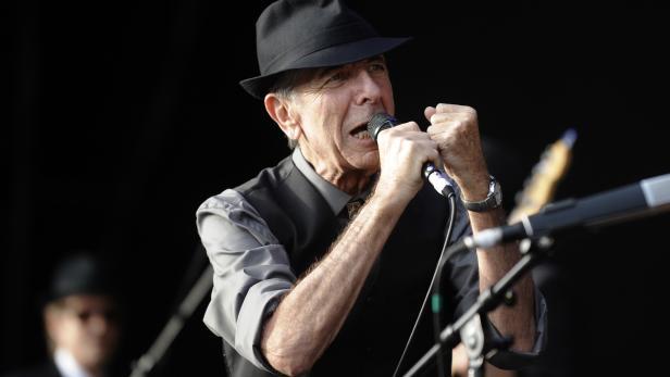 Leonard Cohen bei einem  Konzert im Jahr 2008