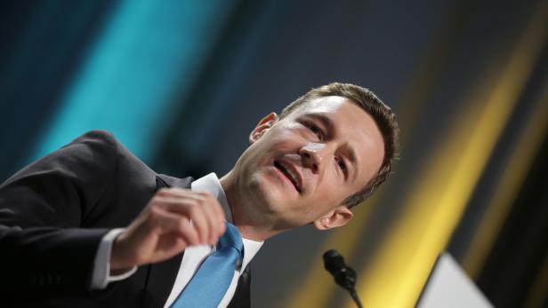 Der Wiener ÖVP-Chef Gernot Blümel im Rahmen eines Landesparteitags der ÖVP Wien.