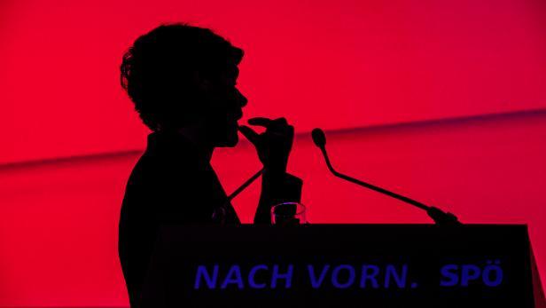 Pamela Rendi-Wagner beim SPÖ-Parteitag in Wels