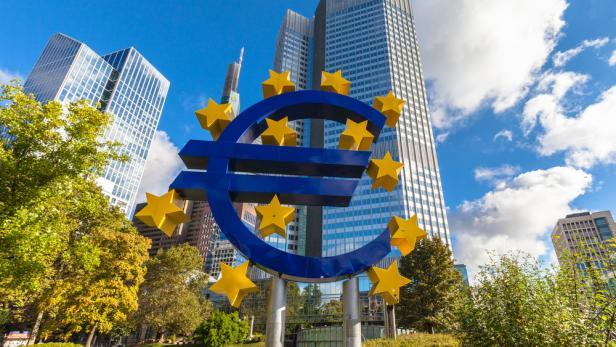Das Gebäude der Europäischen Zentralbank (EZB) in Frankfurt am Main