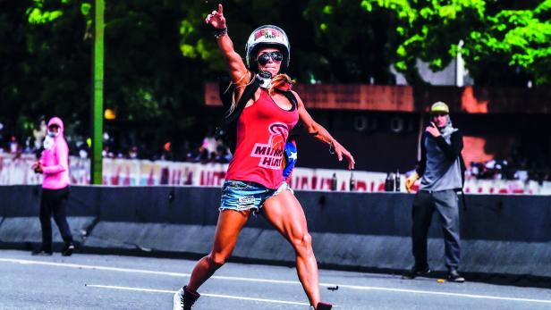 Caterina Ciarcelluti ist das Gesicht der Proteste in Venezuela