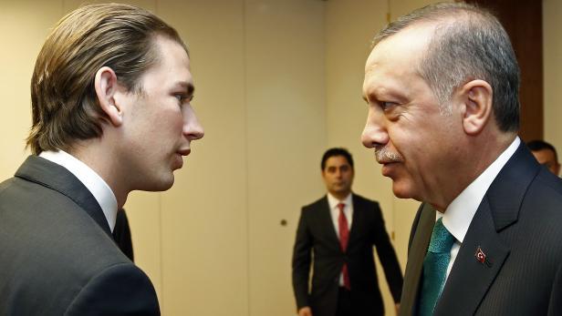 Sebastian Kurz (l.) setzte sich an die Spitze der Türkei-Skeptiker innerhalb der EU.