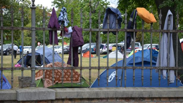 Derzeit leben im Flüchtlingslager Traiskirchen rund 4500 Menschen.