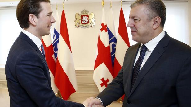 Kurz trifft Georgiens Premier Giorgi Kwirikaschwili.