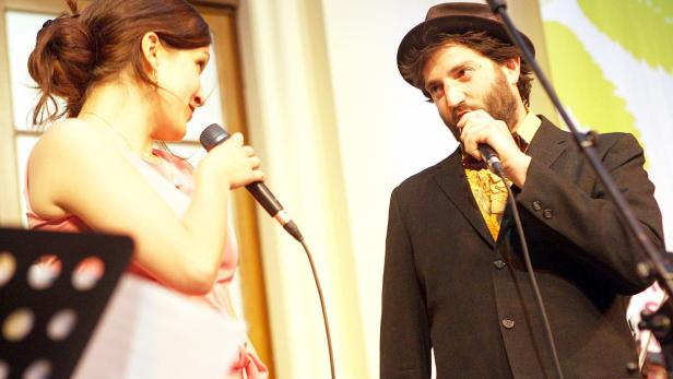 Daniel Kahn (rechts) und Sasha Lurje im Rahmen des 13. KlezMORE Festival Vienna 2016.
