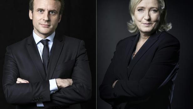 Oui? Non! Non? Oui! Emmanuel Macron oder Marine Le Pen?