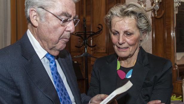 Marianne Enigl mit Altbundespräsident Heinz Fischer