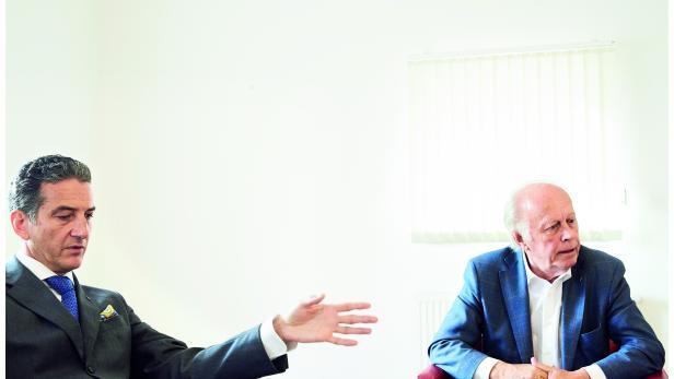 Novomatic-Vorstandsvorsitzender Harald Neumann (54) und -Aufsichtsratvorsitzender Herbert Lugmayr (79)