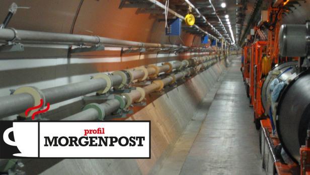 """Der Tunnel des """"Large Hadron Collider"""" im Kernforschungszentrum CERN"""