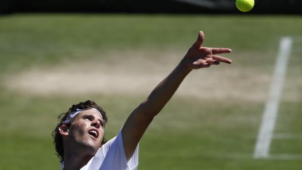 Dominic Thiem beim Grand Slam in Wimbledon