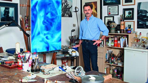 Odin Wiesinger in seinem Atelier
