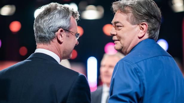 Norbert Hofer (FPÖ) und Werner Kogler (Grüne)