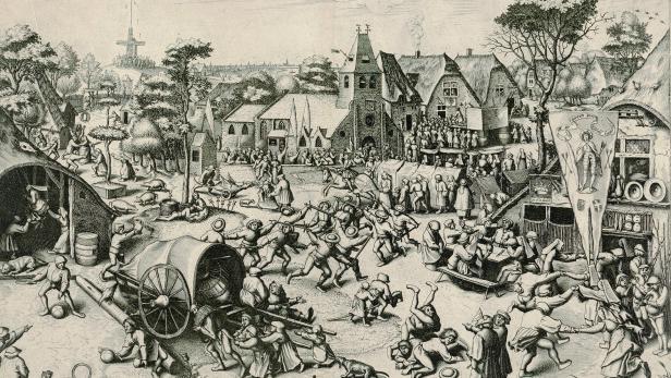 """""""Der Jahrmarkt von St. Georg"""" (um 1559) von Pieter Bruegel dem Älteren"""