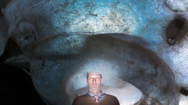 Die Welt im Rücken: Meyerhoff bei den Proben für seine nächste Rolle - einem Schriftsteller mit zerfetzter Psyche