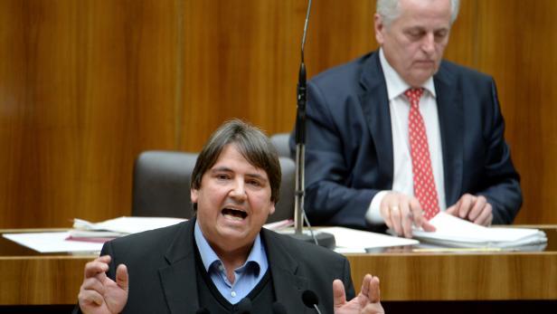 Josef Muchitsch bei einer Sitzung des Nationalrates.