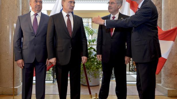 Wladimir Putin, Heinz Fischer, Christoph Leitl 2015