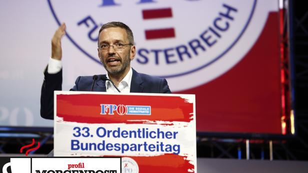 Herbert Kickl beim Parteitag in Graz