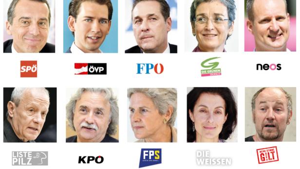 Diese zehn Listen und ihre Kandidaten treten zur Nationalratswahl antreten.