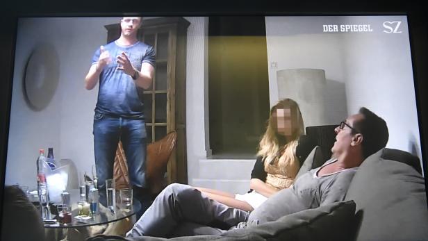 """Eine Szene aus dem belastenden """"Ibiza-Video"""" in der Causa Strache"""