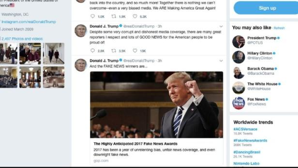 "Trump vergab eigenen ""Fake News Award"""