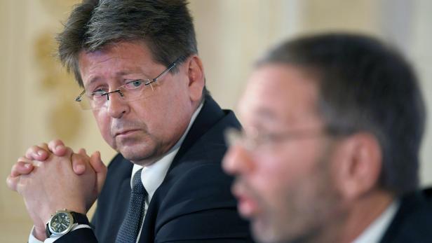 Wolfgang Taucher und Innenminister Herbert Kickl (FPÖ)