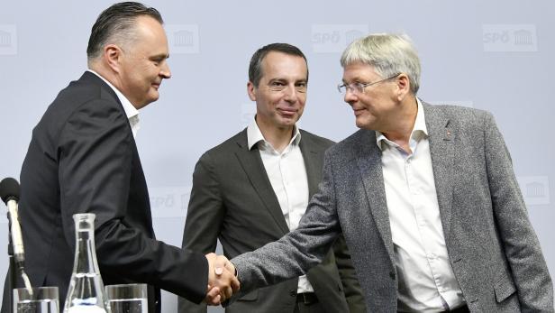 Hans Peter Doskozil, Christian Kern, Peter Kaiser