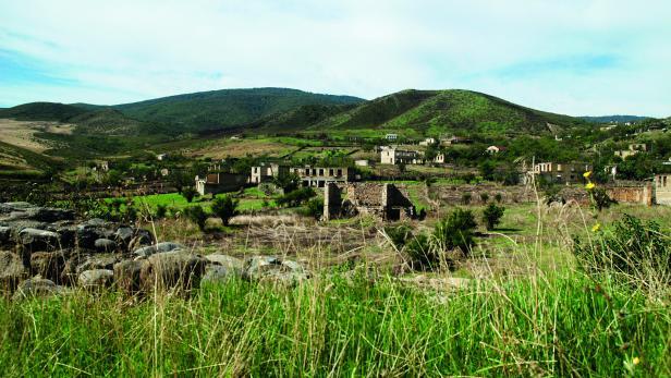 Zerstörtes Dorf Talish: Nach 1555 Jahren Geschichte im vergangenen April entvölkert.