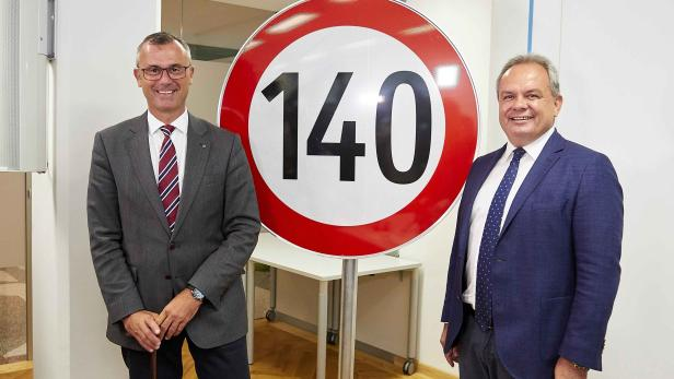 Ex-Verkehrsminister Norbert Hofer (l./FPÖ) und Asfinag-Geschäftsführer Josef Fiala