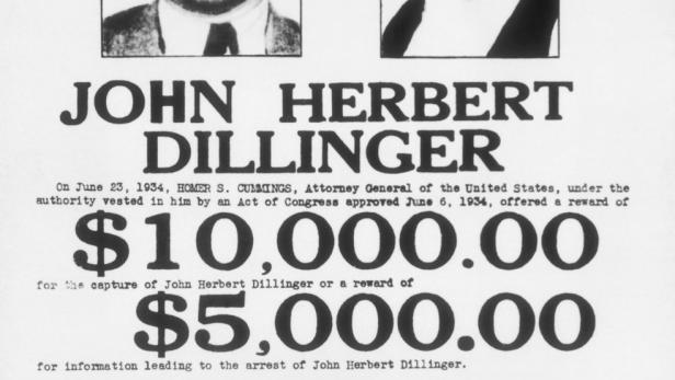 John Dillinger - Fahndungsplakat