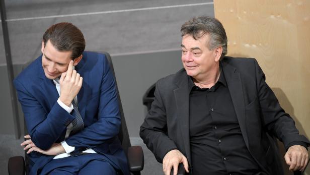 Kanzler Kurz und Vizekanzler Kogler