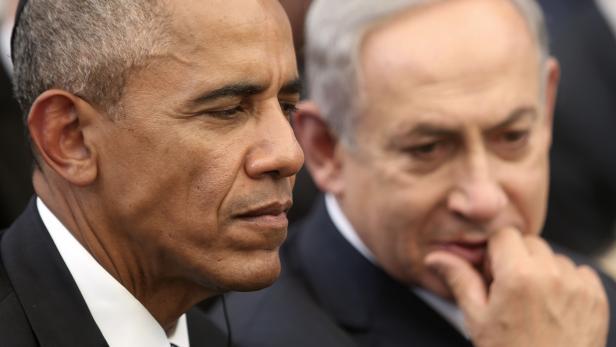 Der israelische Premierminister Benjamin Netanjahu und Noch-US-Präsident Barack Obama: Der eine lässt Siedlungen in den besetzten Gebieten bauen, der andere verurteilt sie.