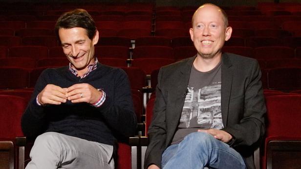 profil-Wirtschaftschef Michael Nikbakhsh und Satiriker Klaus Oppitz