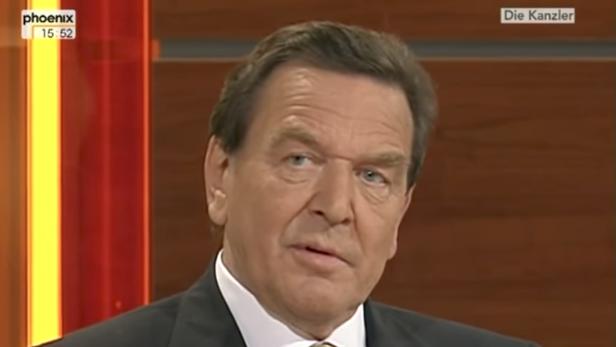 Gerhard Schröder in der Elefantenrunde 2005