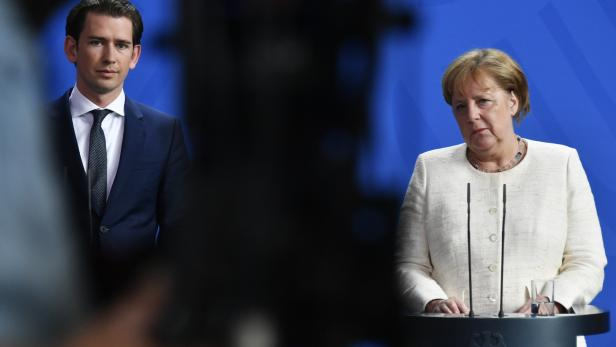 Angela Merkel mit Sebastian Kurz