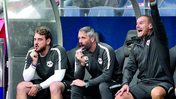 Trendsetter: Red-Bull-Coaches Rene Maric, Marco Rose und Alexander Zickler