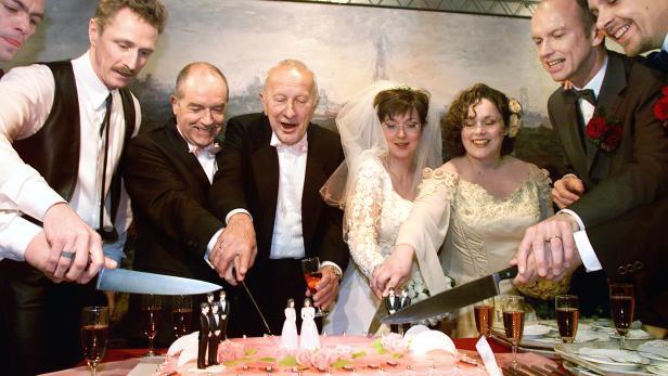 Die ersten Homo-Hochzeiten in Amsterdam am 1. April 2001