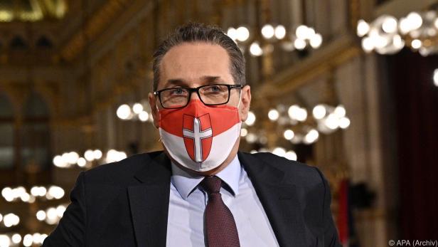 Heinz-Christian Strache mit Maske im Oktober 2020