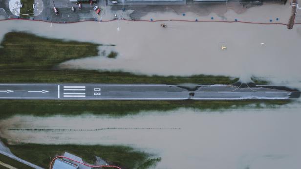 Hochwasser-Situation in Zell am See