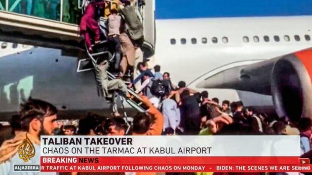 Chaos am Flughafen in Kabul