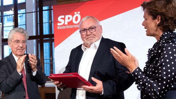 Alt-BP Heinz Fischer, Alt-BK Alfred Gusenbauer und SPÖ-Chefin Pamela Rendi-Wagner