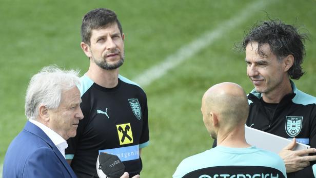 Sportwissenschafter Gerhard Zallinger und ÖFB-Präsident Leo Windtner