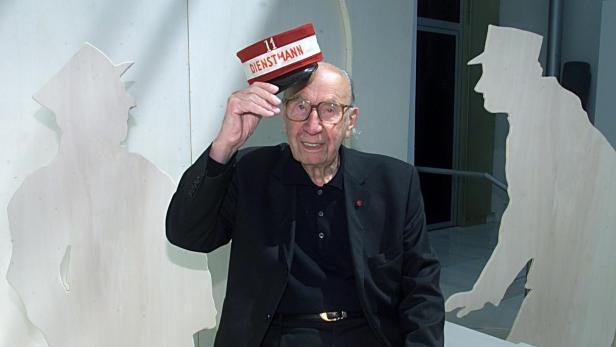 Franz Antels bei einer Ausstellung im Wiener Historischen Museum