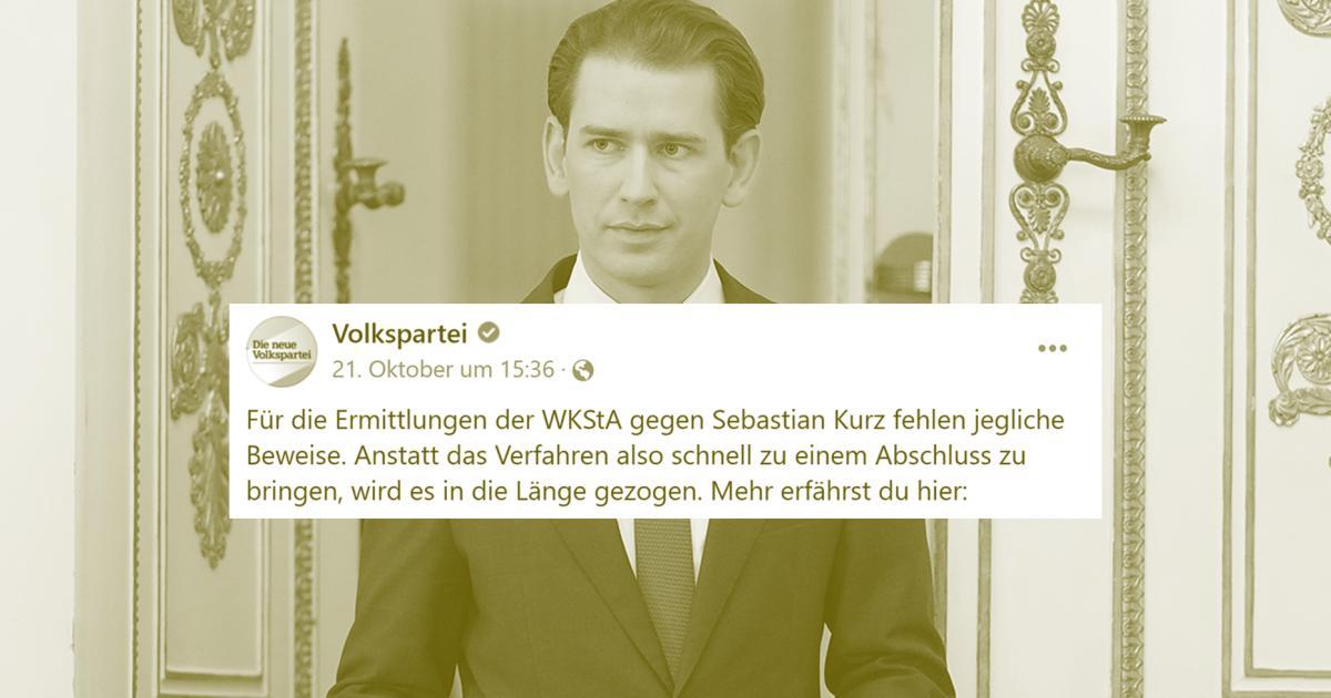 """ÖVP behauptet, gegen Kurz fehlen """"jegliche Beweise"""". Irreführend!"""